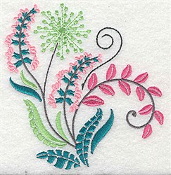 Dainty Flowers embroidery design
