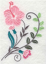 Dainty Plant embroidery design