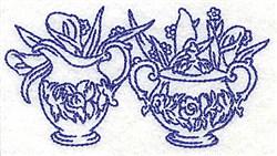 Creamer and Sugar Bowl embroidery design