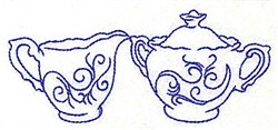 Creamer and Sugar Bowl embroidery design