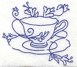 Teacup and Saucer embroidery design