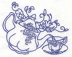 Tea Pouring embroidery design