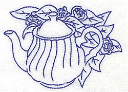 Teapot Roses embroidery design