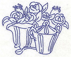 Cream and Sugar embroidery design