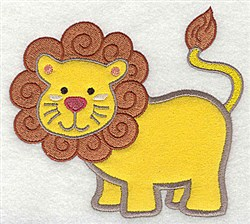 Applique Lion embroidery design