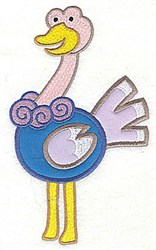 Ostrich Applique embroidery design