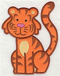 Tiger Applique embroidery design