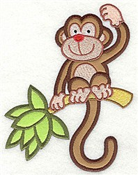 Monkey Applique embroidery design