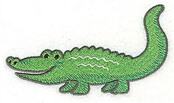 Crocodile embroidery design