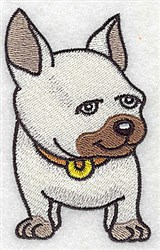 Pug Boxer embroidery design