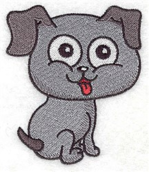 Happy Pup embroidery design