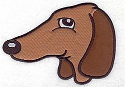 Dachound Applique embroidery design