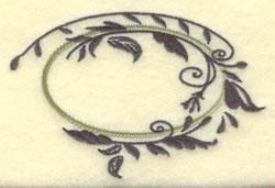 Oval Vine Frame A embroidery design