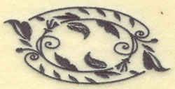 Oval Vines A embroidery design