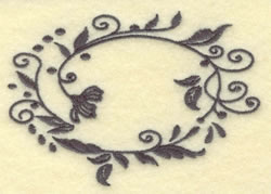 Oval Vines B embroidery design