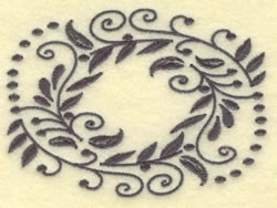 Oval Vines D embroidery design