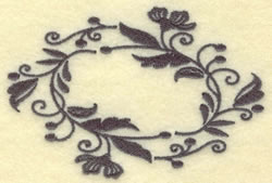 Oval Vines F embroidery design