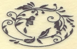 Oval Vines H embroidery design