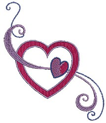 Swirly Hearts embroidery design