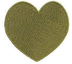 Gold Heart embroidery design