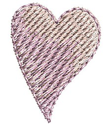 Pink Heart embroidery design