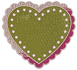 Bordered Heart embroidery design