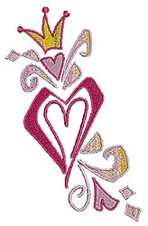 Queen Heart embroidery design