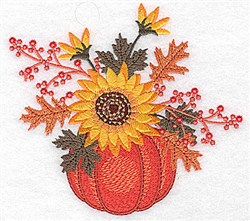 Pumpkin Arrangement embroidery design
