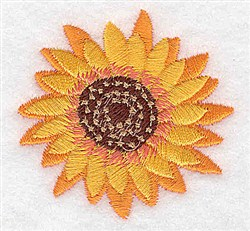 A Sunflower embroidery design