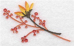 Bud And Berries embroidery design