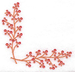 Berry Corner embroidery design