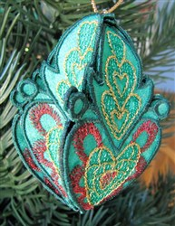 Christmas Ornament Green embroidery design