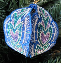Christmas Ornament Blue embroidery design