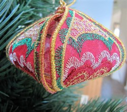 Christmas Ornament Red embroidery design