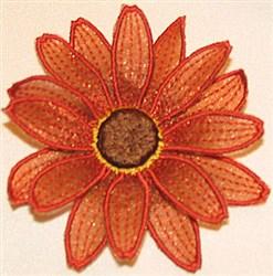 Aster petal top small embroidery design