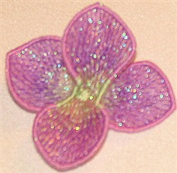 Erysimum center small embroidery design