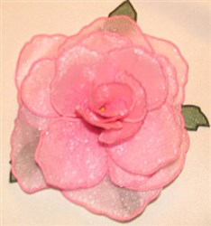 Rose petal bottom small embroidery design