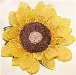 Sunflower center small embroidery design