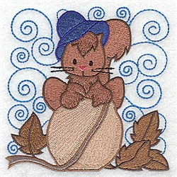 Squirrel On Acorn embroidery design