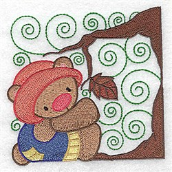 Bear Under Tree embroidery design