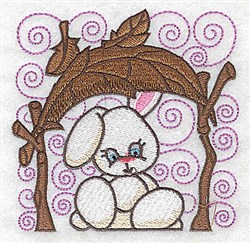 Bunny Under Canopy embroidery design