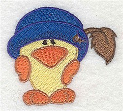 Chick Wearing Hat embroidery design