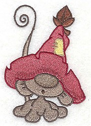 Mouse Wearing Hat embroidery design