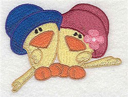 Two Chicks embroidery design