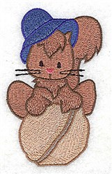 Squirrel On Nut embroidery design