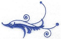 Baroque Swirl embroidery design
