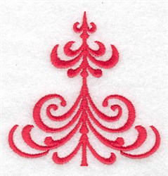 Christmas Tree Stylized embroidery design