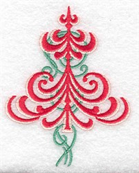 Christmas Tree Embellished embroidery design