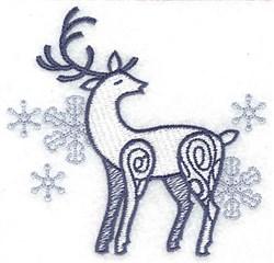 Reindeer Snowflakes embroidery design