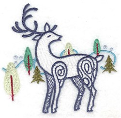 Reindeer Forest embroidery design